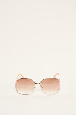 Square Tinted Sunglasses PINK