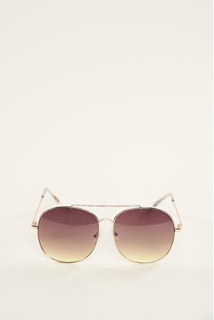 Big Aviator Sunglasses GOLD