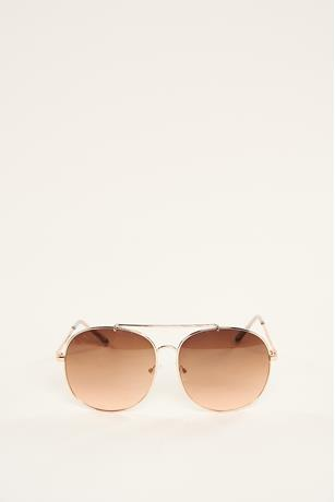 Big Aviator Sunglasses ROSE GOLD