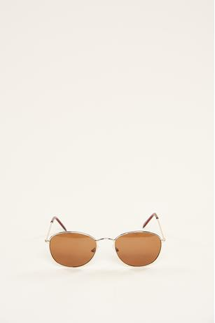 Small Aviator Sunglasses BROWN