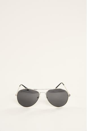 Basic Aviator Sunglasses SILVER