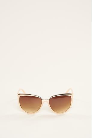 Metal Trim Sunglasses TAUPE