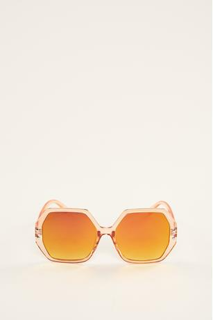 Hexagon Studded Sunglasses ROSE GOLD