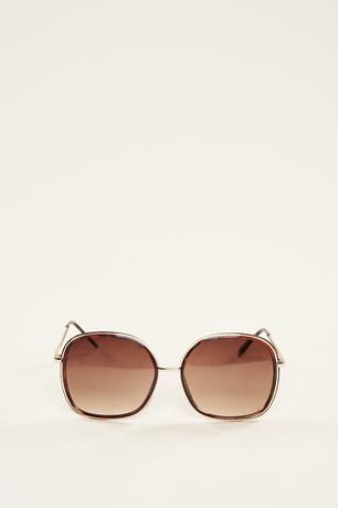 Outline Trim Sunglasses BROWN