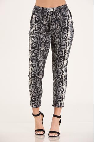 Snake Skin Print Pants GRAY