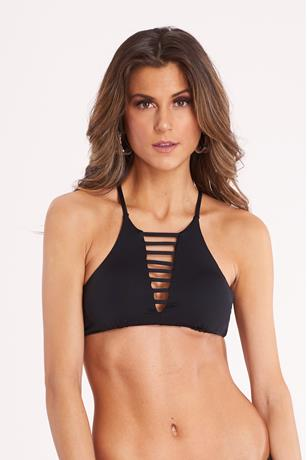 High Neck Ladder Bikini Top