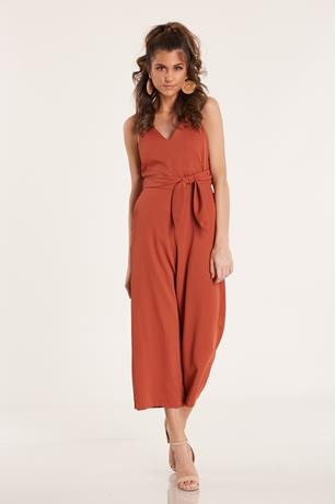 V Neck Jumpsuit  RUST