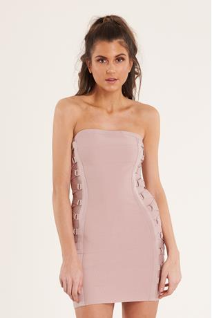 Bandage Tube Dress MAUVE