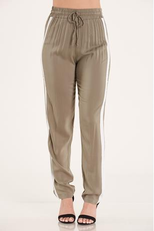 Striped Drawstring Joggers  OLIVE