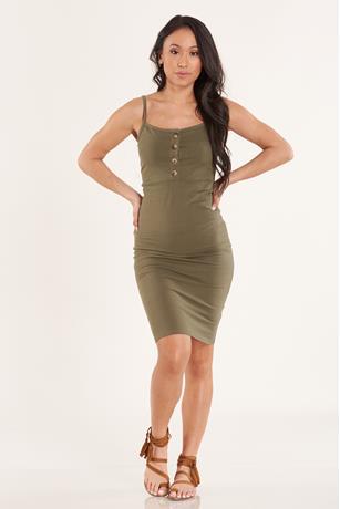Tank Midi Dress OLIVE