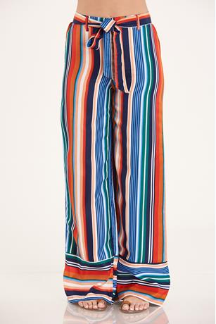 Striped Palazzo Pants MULTI