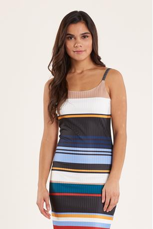 Multi-Stripe Tank Dress MULTI