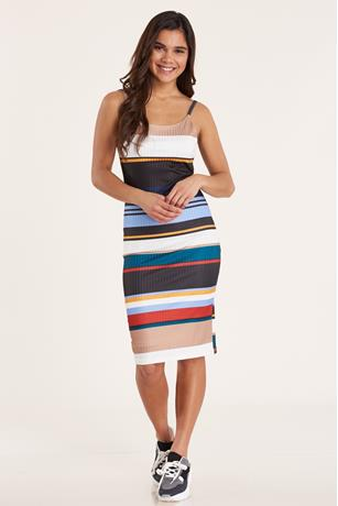 Multi-Stripe Tank Dress