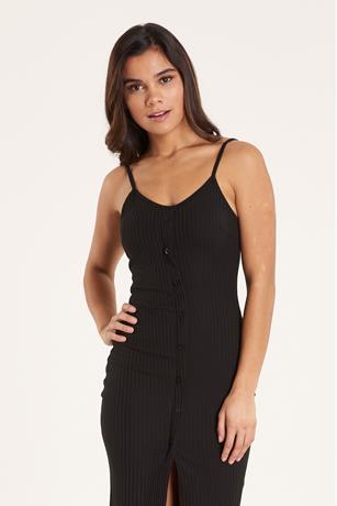 Ribbed Tank Dress BLACK