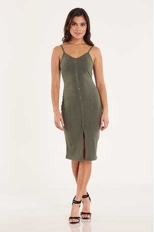 Ribbed Tank Dress OLIVE