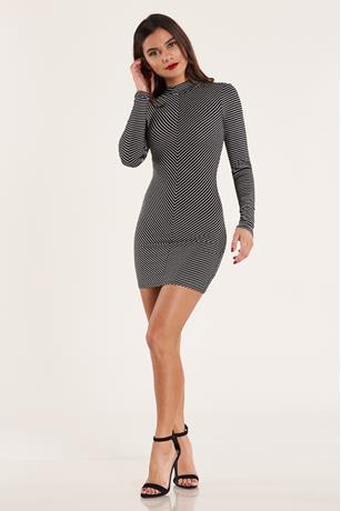 Diagonal Stripe Dress