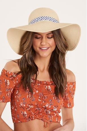 Floppy Straw Hat  NATURAL
