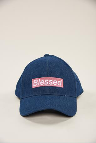 Denim Blessed Baseball Cap BLUE