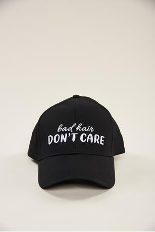 Bad Hair Baseball Cap BLACK
