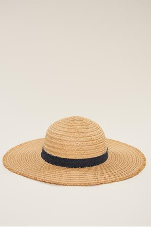 Denim Band Floppy Hat NATURAL