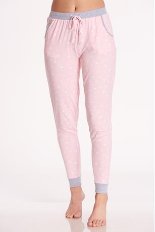 Heart Pajama Pants PINK