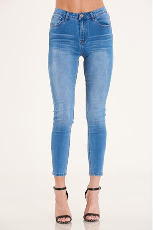 High Waist Skinny Jeans MED WASH