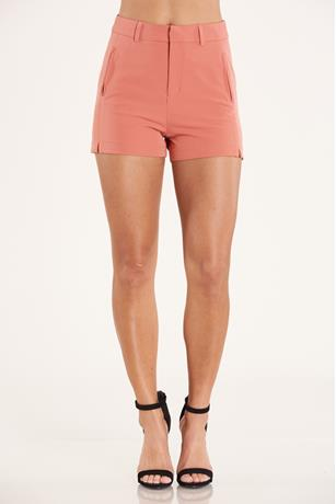 High Waist Shorts  RUST