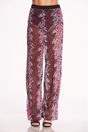 Print Mesh Pants PINK