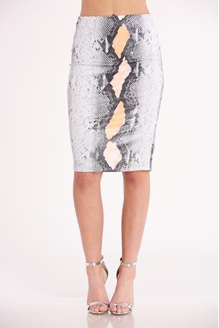 Snake Skin Skirt  GRAY