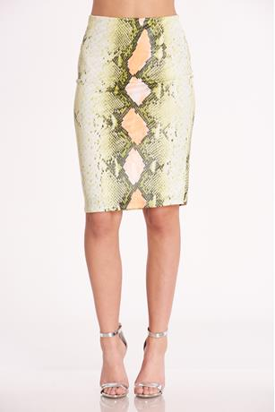 Snake Skin Skirt  GREEN