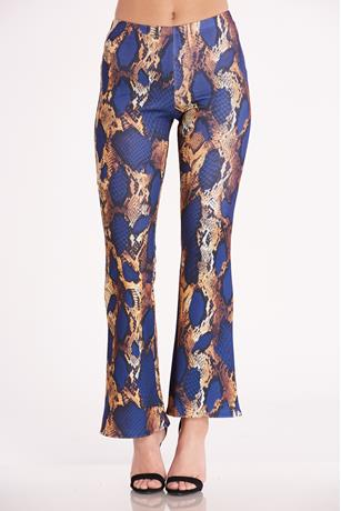 Print Wide Leg Pants MULTI