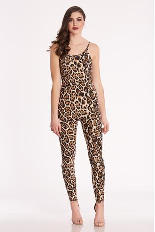 Animal Print Jumpsuit BROWN