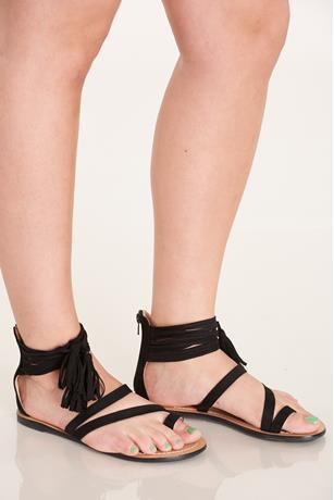 Toe Ring Sandals BLACK