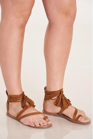 Toe Ring Sandals TAN