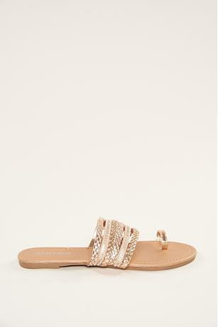 Studded Toe Ring Sandals ROSE