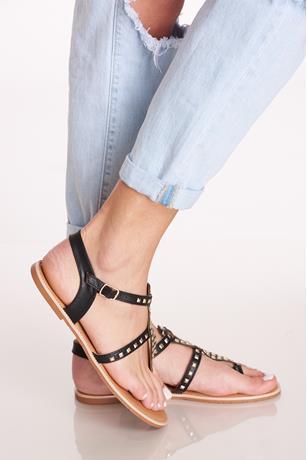 Studded Sandals BLACK