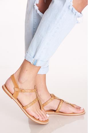 Studded Sandals TAN