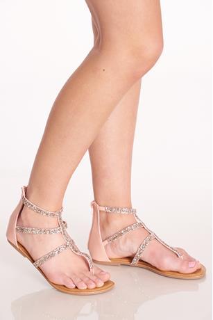 Glitter Cage Sandals