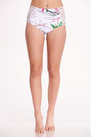 High Waist Floral Bikini Bottom