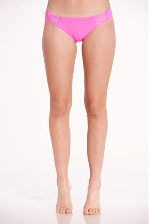 Strappy Neon Bikini Bottom PINK