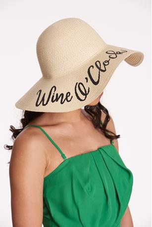 Wine Floppy Hat  NATURAL