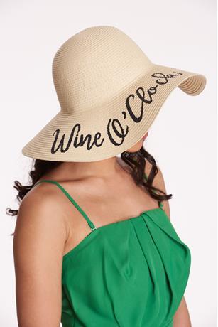Wine Floppy Hat  NATURAL
