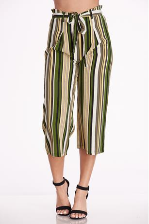 Printed Paperbag Culottes OLIVE