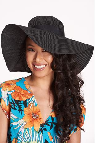 Bow Trim Floppy Hat