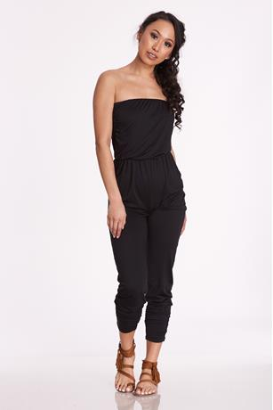 Knit Tube Jumpsuit BLACK