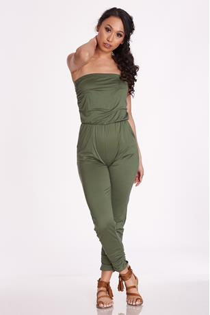 Knit Tube Jumpsuit OLIVE
