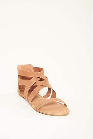 Crisscross Gladiator Sandals BROWN