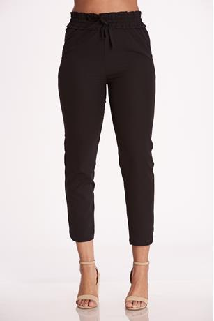 Cinched High Rise Pants BLACK