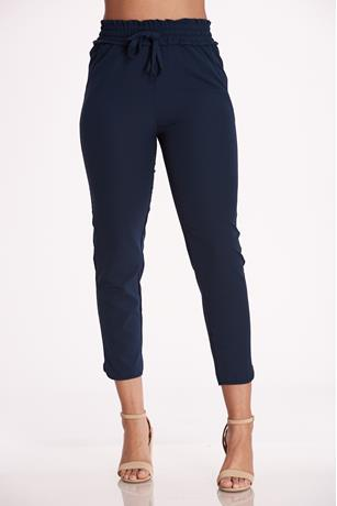 Cinched High Rise Pants BLUE