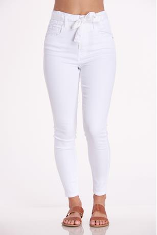 Younique White Paperbag Jeans WHITE